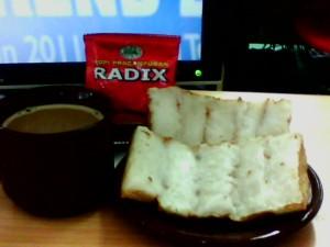 kopi radix HPA dan kue pancong-rangin