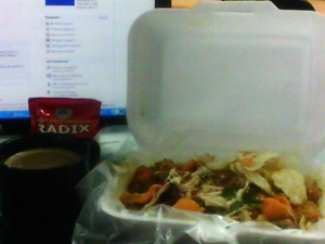 sarapan bubur ayam & kopi radix