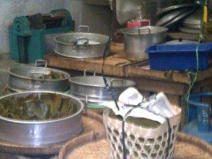 Dapur tempat pembuatan buntil tukangan, magelang